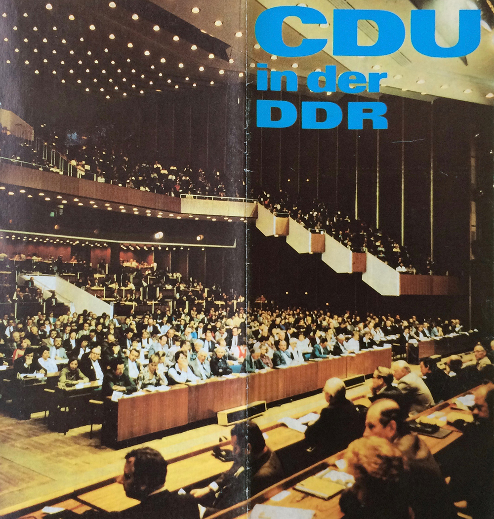 Flyer der CDU in der DDR